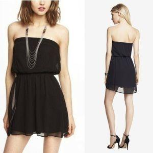 NWT Express Chiffon Strapless Blouson Dress L